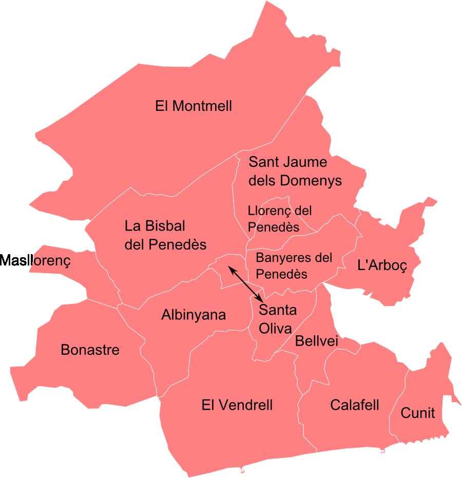 Mapa baix penedes my blog - Tiempo la bisbal del penedes ...